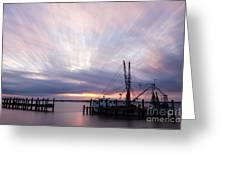 Sunset Over The Senseless Fernandina Beach Florida Greeting Card