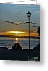 Sunset Over The Solent Greeting Card