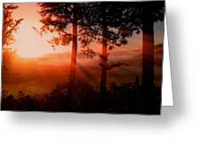 Sunset Over The Valley Greeting Card