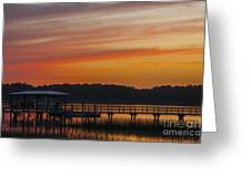 Sunset Over The Wando River Greeting Card