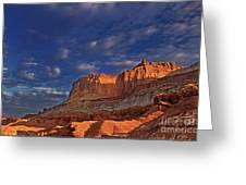Sunset Over The Waterpocket Fold Capitol Reef National Park Greeting Card