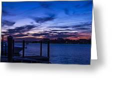 Sunset Over The Waterway Greeting Card