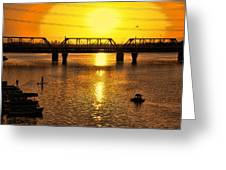 Sunset Over Town Lake Greeting Card