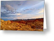 Sunset Over Valley Of Fire State Park In Nevada Greeting Card