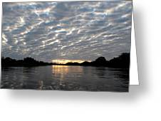 Sunset Over Water Greeting Card