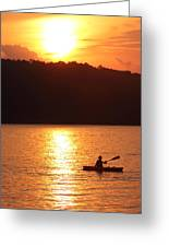 Sunset Paddle Greeting Card