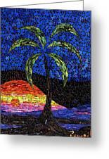 Sunset Palm Greeting Card