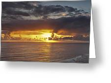 Sunset Panorama Greeting Card by Andrew Soundarajan