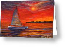 Sunset Passion Greeting Card