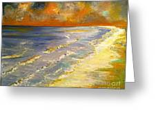 Sunset Passion At Cranes Beach Greeting Card