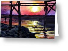 Sunset Pier Greeting Card