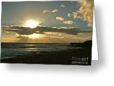 Sunset Porthleven Cornwall Summer 2005 Greeting Card