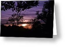 Sunset Purple Sky Greeting Card by Saifon Anaya