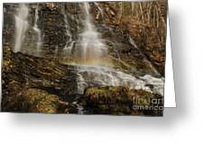 Sunset Rainbow At Amicalola Falls Greeting Card