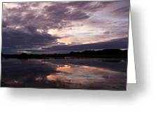 Sunset Reflected In A Lake Greeting Card