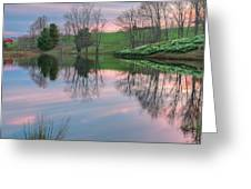 Sunset Reflections Square Greeting Card