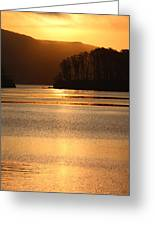 Sunset Reflections Tomales Bay In Marin County California Greeting Card