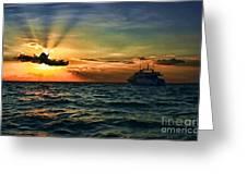 Sunset Regatta  Greeting Card