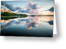 Sunset Relections Greeting Card