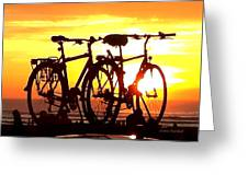 Sunset Ride Greeting Card
