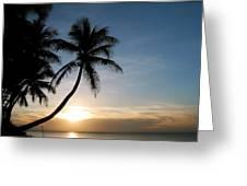 Sunset Rincon Greeting Card by Wanda Leon
