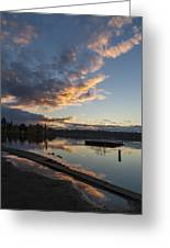 Sunset Ripples In Time Greeting Card
