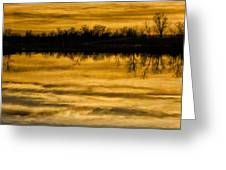 Sunset Riverlands West Alton Mo Sepia Tone Dsc03319 Greeting Card
