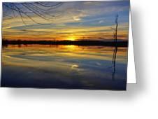 Sunset Riverlands West Alton Mo Dsc03329 Greeting Card