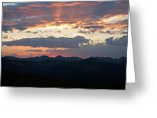 Sunset Rmnp Greeting Card