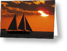 Key West Sunset Sail 3 Greeting Card