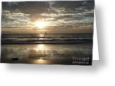 Sunset Sail Greeting Card by Crystal Joy Photography