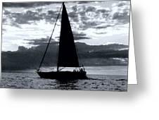 Sunset Sailing -2 Greeting Card