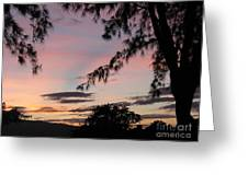 Sunset Sainte Marie-reunion Island-indian Ocean Greeting Card by Francoise Leandre
