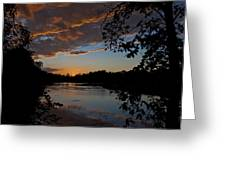 Sunset Scene At The River Greeting Card