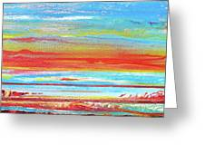 Sunset Series Druridge Bay 1c Greeting Card by Mike   Bell