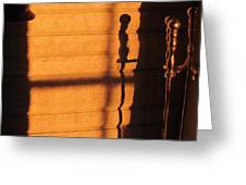 Sunset Shadow Indoor Greeting Card