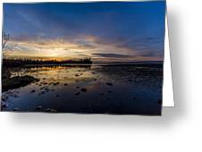 Sunset Silhouette At Candle Lake Greeting Card by Gerald Murray Photography