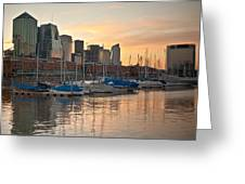 Buenos Aires Sunset Greeting Card