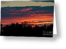 Sunset Sky Greeting Card
