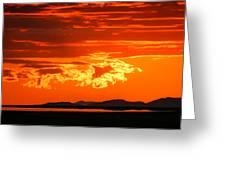 Sunset Sky Fire Greeting Card