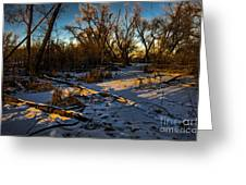 Sunset Snow Greeting Card by Baywest Imaging