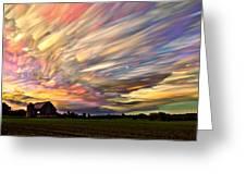 Sunset Spectrum Greeting Card by Matt Molloy