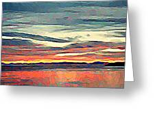 Davis Bay Sunset  Greeting Card