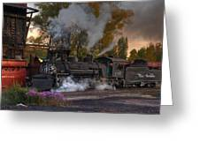 Sunset Steam Greeting Card