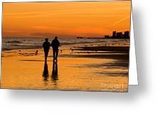 Sunset Stroll Greeting Card by Al Powell Photography USA