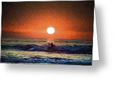 Sunset Surfer Greeting Card