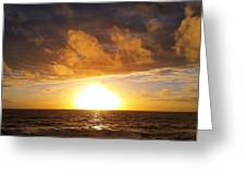 Sunset Swerve Greeting Card