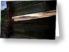 Sunset Throough The Fence Greeting Card