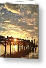 Sunset Through Pier Greeting Card