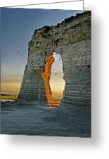 Sunset Through The Keyhole Greeting Card